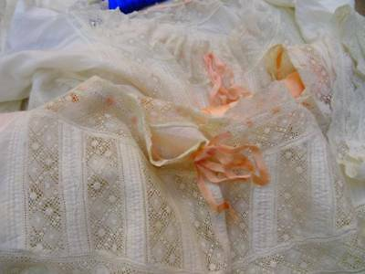 Scrumptious Antique Lace Victorian Night Dress ~ Lace ~ Ribbons C.1890 (A)