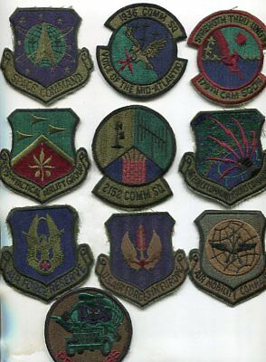 Vintage Lot of 10 Mixed Different US Air Force Patches Lot 2