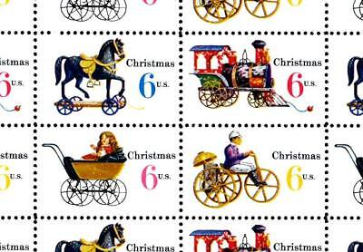 1970 - CHRISTMAS TOYS - #1415-18 Mint -MNH- Sheet of 50 Postage Stamps