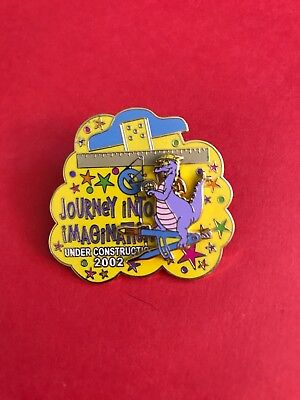 Disney WDW Journey To Imagination Under Construction 2002 Figment Slider Pin