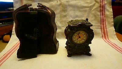 Old Victorian Mantel Clock With Case For Spares Or Repairs