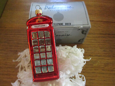 Polonaise Telephone Booth Christmas Ornament SIGNED