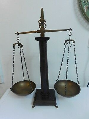 Antique Apothecary Gold Balance Scale Claw Feet