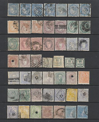 Spain 1865 - 1875 collection, 49 stamps.
