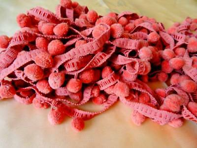 A Wonderful Huge Length of Powder Pink French Bobble Passementerie