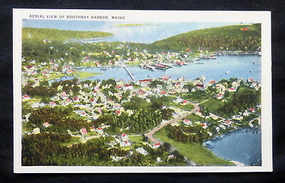 Boothbay Harbor, ME, Aerial View, circa 1930's