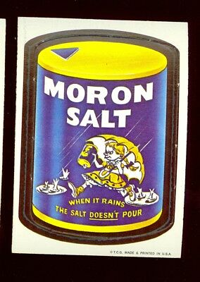 1967 Topps Wacky Package Sticker Die-Cut #21 MORON SALT NR/MT no creases