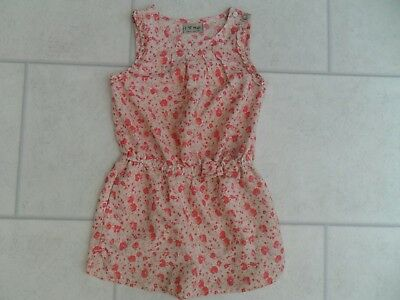 Pretty Girls Next Pink Floral Playsuit Age 5 Years VGC