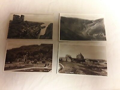 The John O'Groats  Vintage Real Photo (RP) Unposted Postcard plus 3 other places