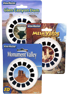 Glen Canyon- Mesa Verde- Monument Valley- NEW ViewMaster Set -9 Reels