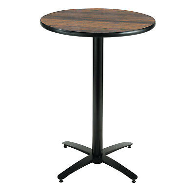 KFI 42in Round Bar Height Pedestal Table with Arched X-Base