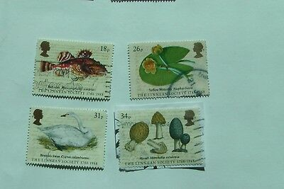 Bicentenary of British Linnean Society fine used set from 1988