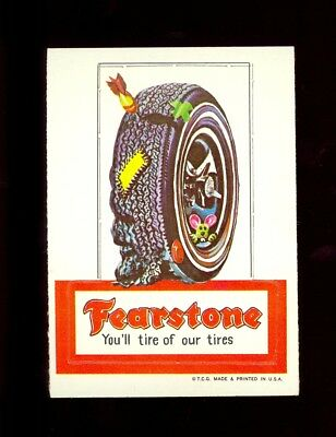 1967 Topps Wacky Package Sticker Die-Cut #2 FEARSTONE TIRES NR/MT no creases