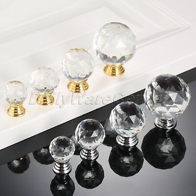 Hot Crystal Glass Diamond Furniture Door Handles Drawer Pull Cabinet Knobs Clear