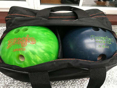 AMF Power Ball USA 5kg, AMF Boogie 4kg Bowling Balls Double Carry Bag His n Hers
