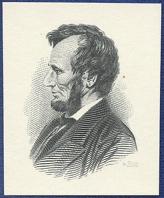 AMERICAN BANK NOTE Co. ENGRAVING: 258b PRESIDENT LINCOLN