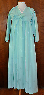 Original Vintage Mid-Century Teal Korean Asian Hanbok Kimono Jacket/Skirt