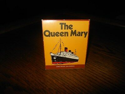 LARGE BOX MATCHES FROM THE QUEEN MARY HILAND'S TOBACCO LOCKER w/ TRIANGULAR SIDE