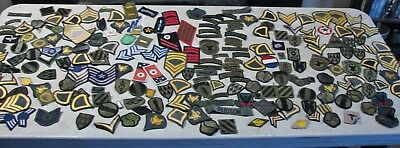 Huge Lot Of Approx. 220 Mixed Unsorted MILITARY Patches
