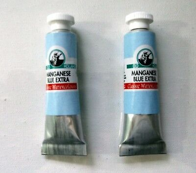 OLD HOLLAND Watercolor Tube Paint 6ml Manganese Blue Extra / Hue, Cobalt Phthalo