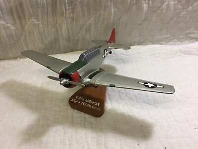 Vintage North American SNJ-3 Texan Airplane Plane Desk Model By Sparta Graphics