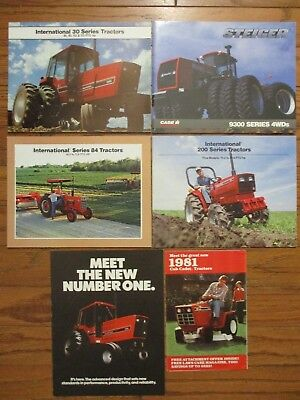 LOT of (12) IH McCORMICK TRACTORS..BUYERS GUIDE..COMBINE & CORN BROCHURES..GOOD