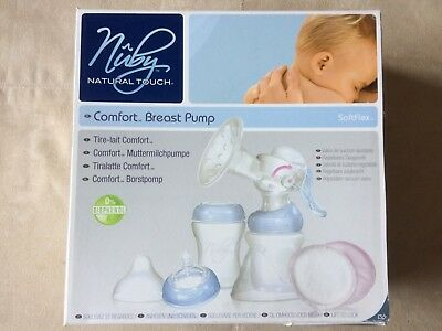 Nuby Natural Touch and Medela Swing Electric Breast Pump and 5 x Bottles