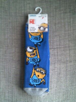 BNWT Girls/ Boys Character Slipper Socks (despicable me) Uk Size  9-12