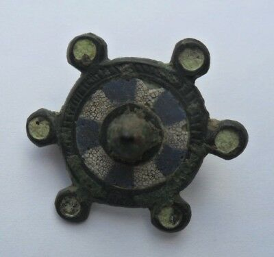 Roman Ancient Bronze Enamelled Fibula Brooch (5)