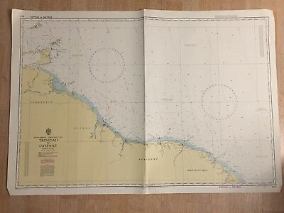 Nautical Chart Trinidad To Cayenne South America North East Coast 1969 Map 4545