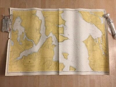 Nautical Chart Puget Sound Seattle to Bremerton United States West Coast #4594