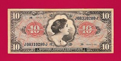 RARE - Most Valued USA Military Payment Certificate $10 Dollars 1965 ICONIC NOTE