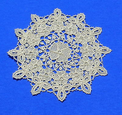 Rare Antique  Reticella  Type Lace Doily Coaster