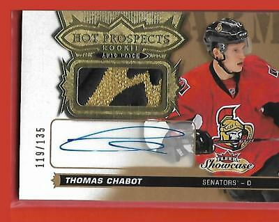 **THOMAS CHABOT**2016-17 Fleer Hot Prospects Rookie Autograph Patch /135 HOT!