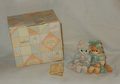 Enesco Calico Kittens 1992 We're a Purr-fect Pair Figurine in Box