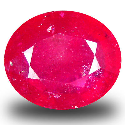6.31 Ct AAA Beau Forme Ovale (12 10 mm) Rubis Rouge Naturel Libre Pierre