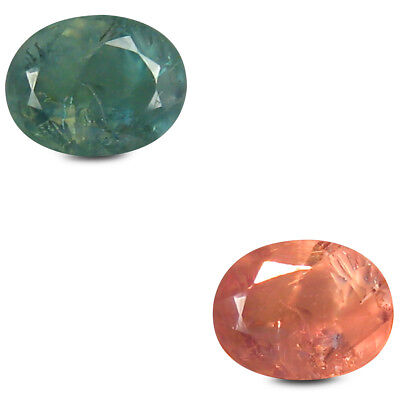 0.46 Carats Ovale (5 X 4 mm) Un-Heated Couleur Change Alexandrite Libre