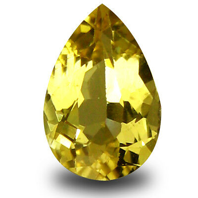 0.78 Ct AAA Grand Style Poire (8 X 5 mm) Jaune Heliodor Béryl Libre