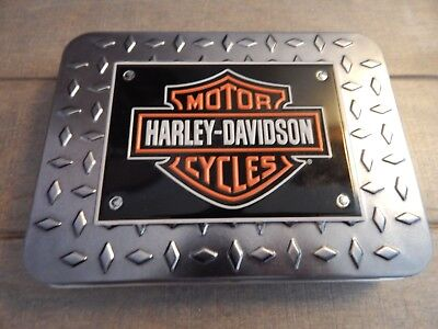 HARLEY-DAVIDSON 2 Sealed Decks of Playing Cards in Hinged Tin - Casino Quality