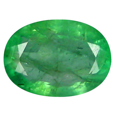 1.27 ct Magnificent Oval Cut (8 x 6 mm) Colombian Emerald Natural Gemstone