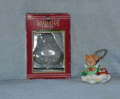 Mistletoe Magic Wal-mart Angel Mouse on Cloud Christmas Ornament in Box