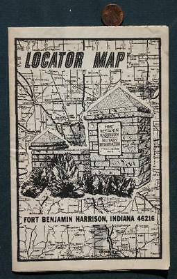 Indianapolis,Indiana Fort Benjamin Harrison Military Reservation locator map!