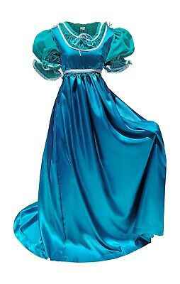 Plus Size Satin Gown Halloween Costume Regency Ball Jane Austen European