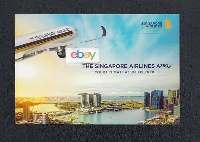 Singapore Airlines Airbus A-350 Your Ultimate A350 Experience Postcard