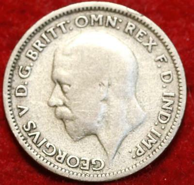 1935 Great Britain 6 Pence Silver Foreign Coin