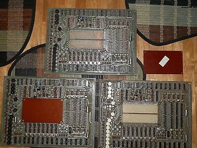 Lot 3 Vintage Univac Computer Magnetic Core Memory Boards