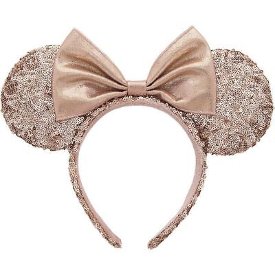 Disney Parks Rose Gold Minnie Mouse Ears Headband New With Tags Ships Free