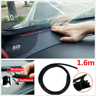 For Auto Car Dashboard Windshield 1.6m Rubber Soundproof Dustproof Sealing Strip