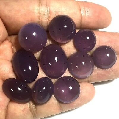 144ct Gem Violet Purple CHALCEDONY diackethyst Cab Lot ~10pc Natural Untreated~