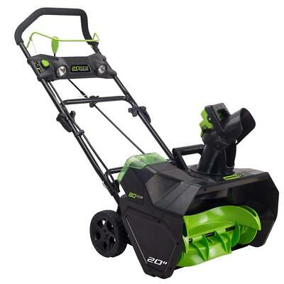 Greenworks PRO 20-Inch 80V Cordless Snow Thrower, Battery Not Included 2601302